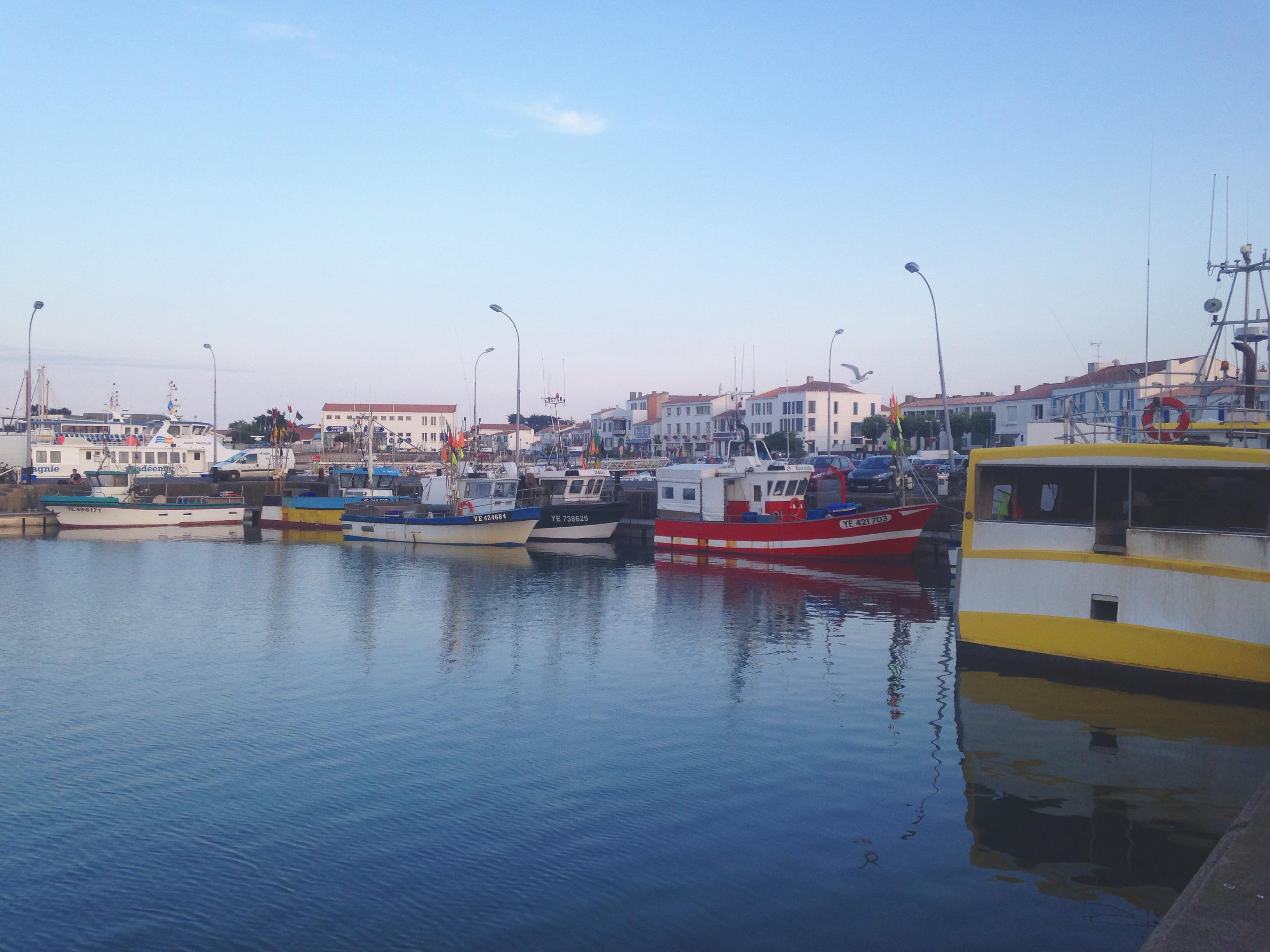 les bateaux de peche du port de l'ile d'yeu