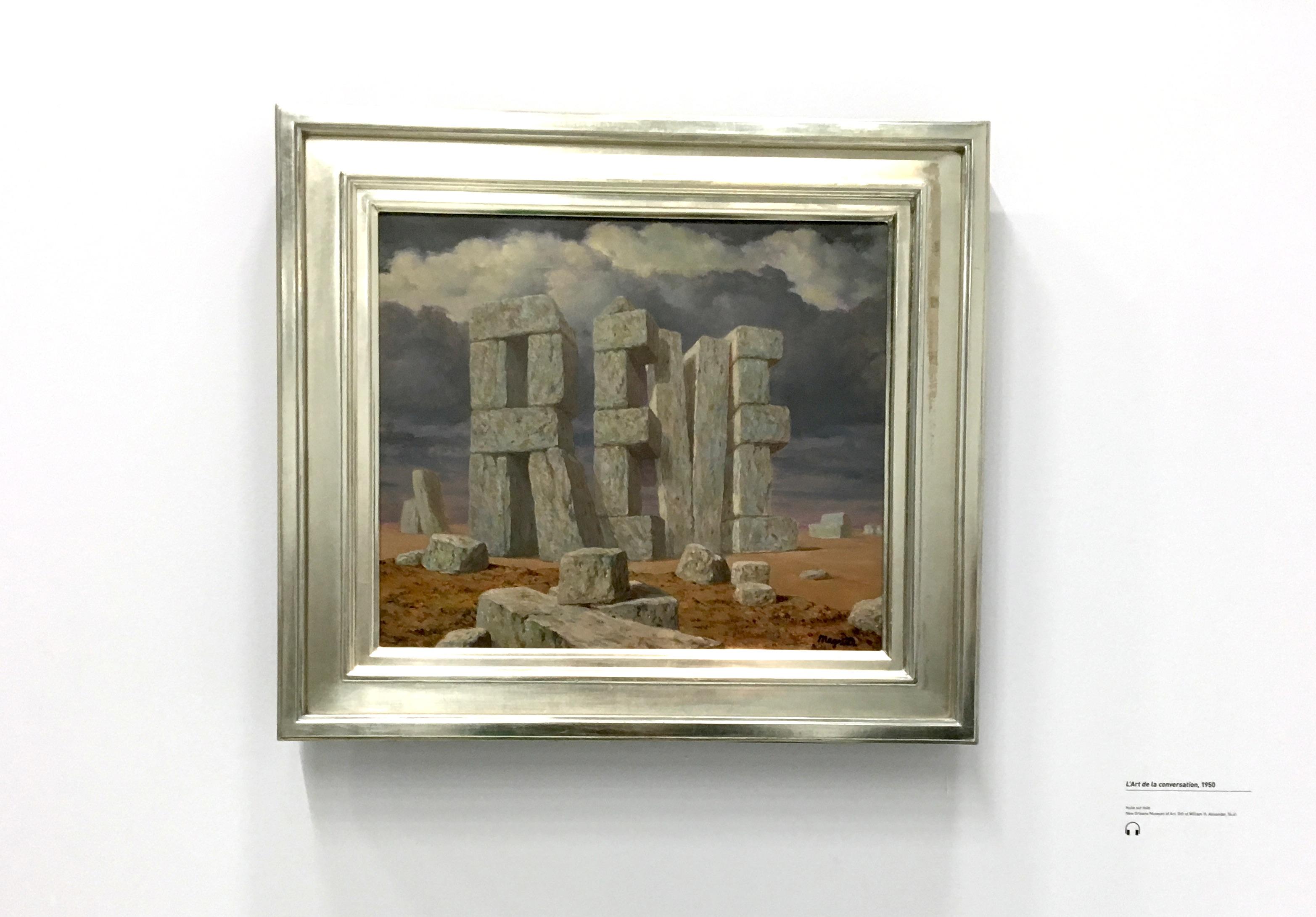 Peinture de Magritte avec le mot reve