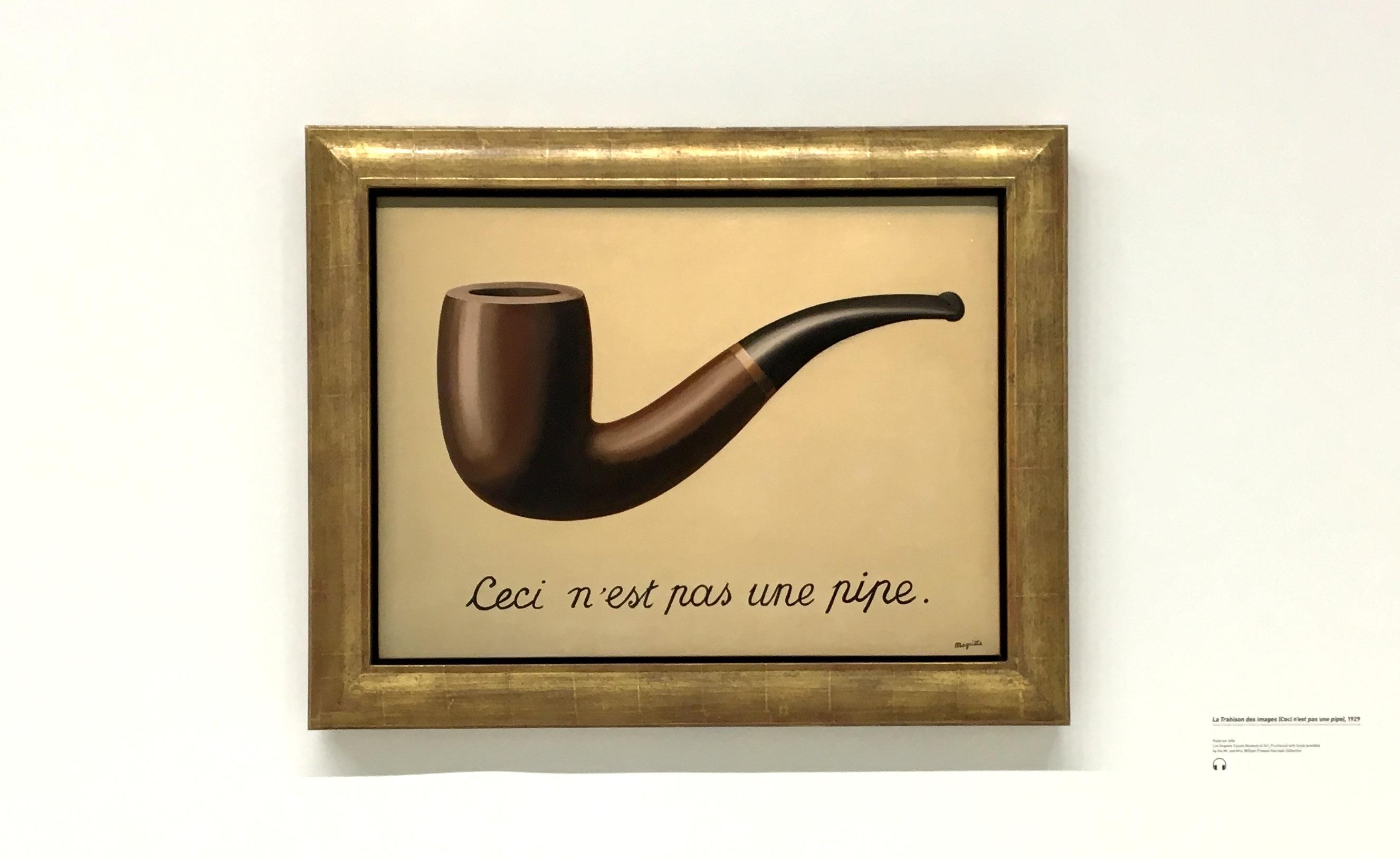 Tableau de Magritte Ceci n'est pas une pipe