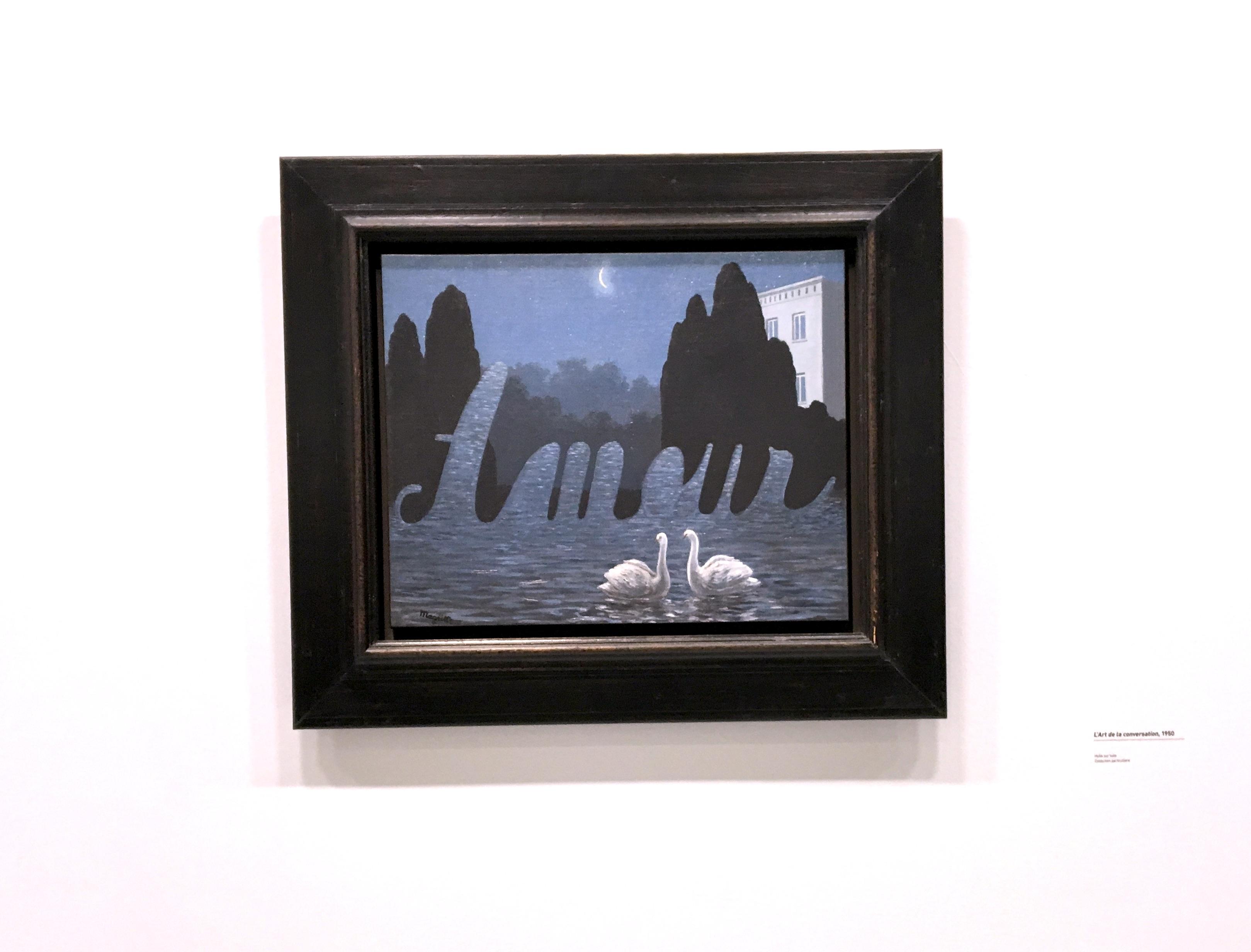 Peinture de Magritte avec le mot amour