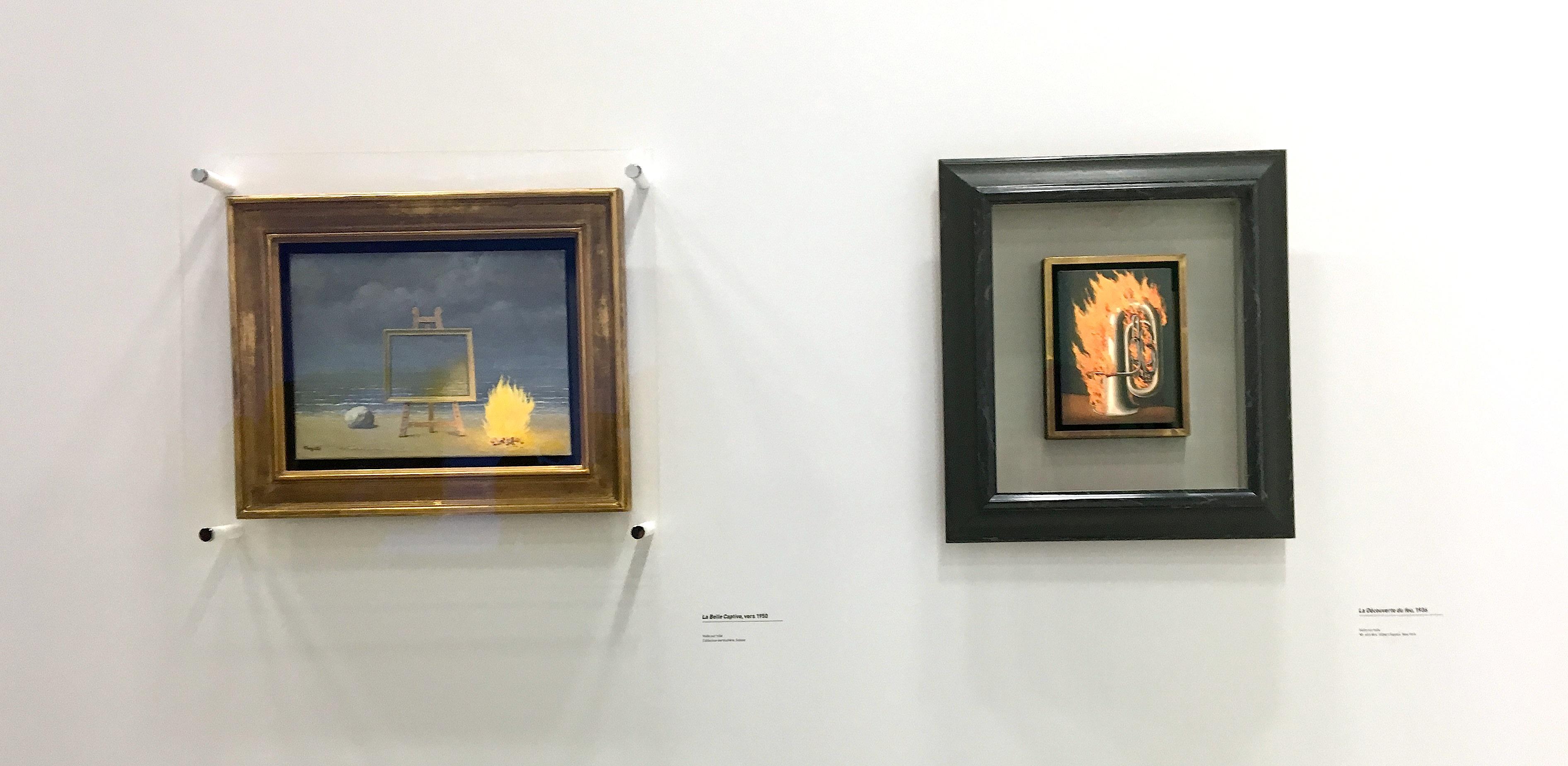 Deux peintures de Magritte
