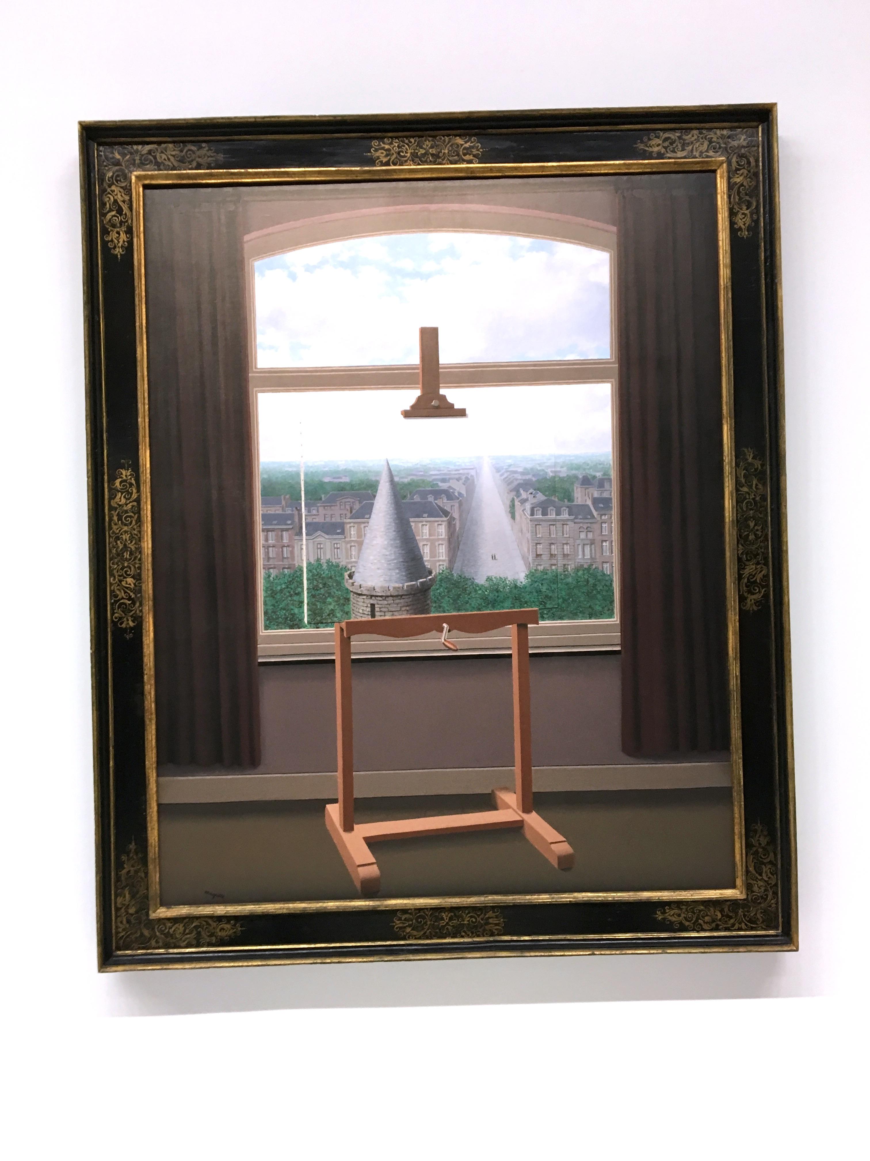 Peintures de Magritte avec un tableau dans le tableau