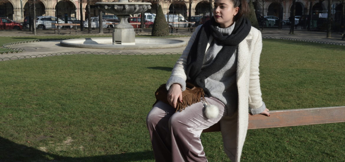 purple pants place des vosges