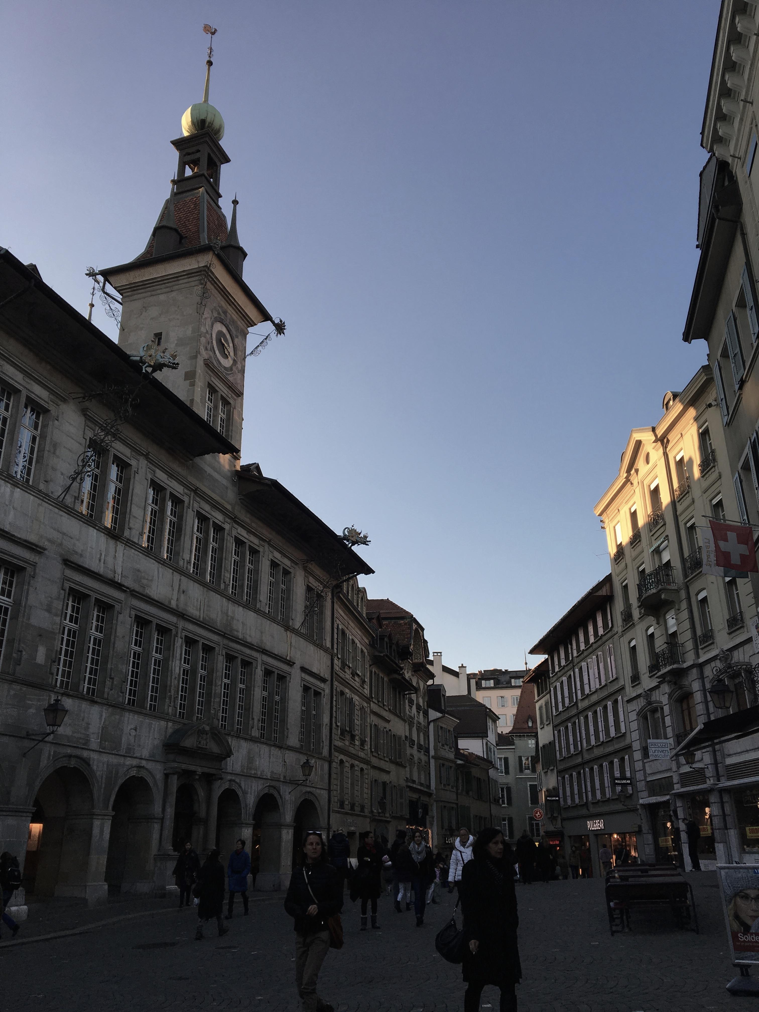 Rue à Lausanne