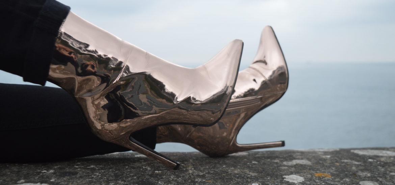Chaussures dorées asos dinard